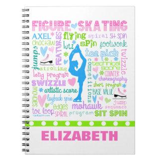 Cuaderno La figura patinador en colores pastel