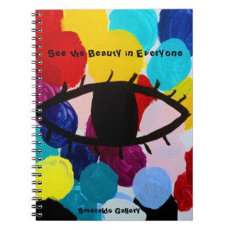 """Cuaderno La galería de Smeraldo """" ve la belleza en cada uno"""