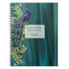 Cuaderno La huésped verde azulada del boda del satén y del