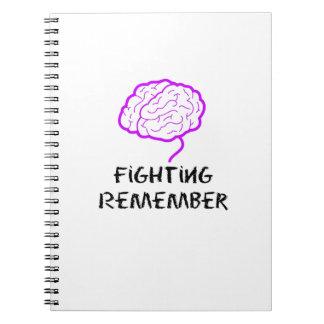 Cuaderno La lucha púrpura de la conciencia de Alzheimers