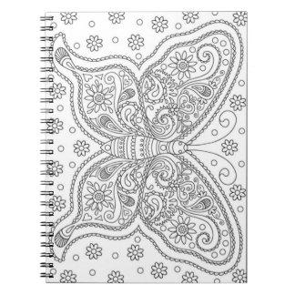 Cuaderno La mariposa lo hace usted mismo página del