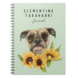 Cuaderno La mezcla del dogo con los girasoles el   añade su