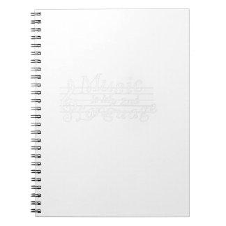Cuaderno La música es mi regalo impresionante de los