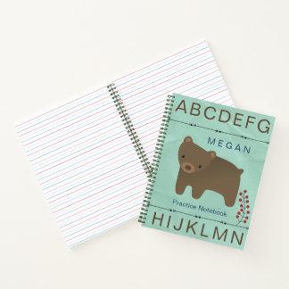 Cuaderno La naturaleza de la flecha del oso pone letras al