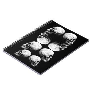 Cuaderno La oscuridad avanzada del perfil del cráneo