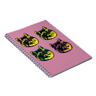 Cuaderno La respiración pesada de los gatos lindos del arte
