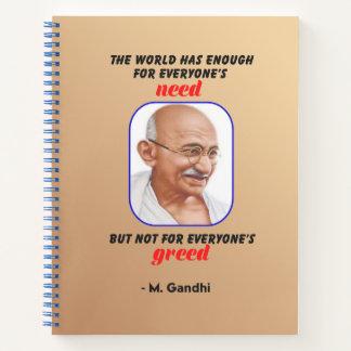 Cuaderno La sabiduría de Gandhi