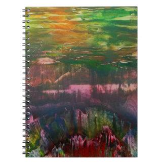 Cuaderno La tarde despliega sobre paisaje