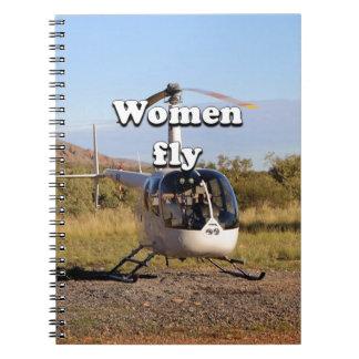 Cuaderno Las mujeres vuelan: Helicóptero 2 (blancos)
