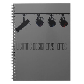Cuaderno Las notas del diseñador de iluminación