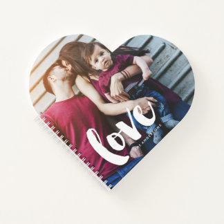 """Cuaderno Letras """"amor """" del cepillo"""
