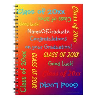 Cuaderno Libro de la memoria de la graduación, arco iris