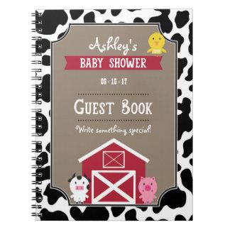 Cuaderno Libro de visitas - animales del campo