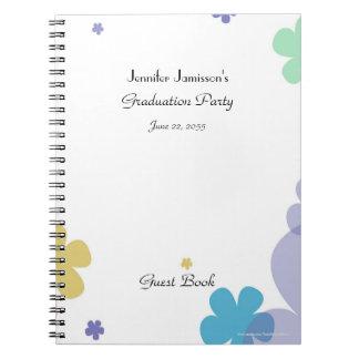 Cuaderno Libro de visitas de la fiesta de graduación