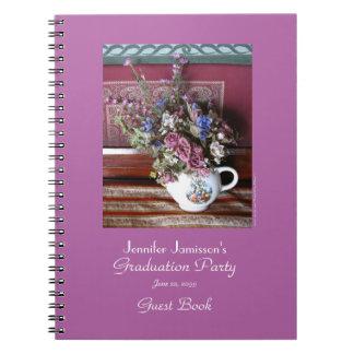 Cuaderno Libro de visitas de la fiesta de graduación,
