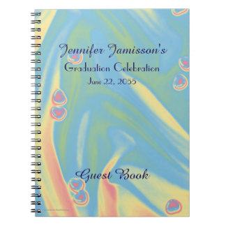 Cuaderno Libro de visitas de la fiesta de graduación, azul