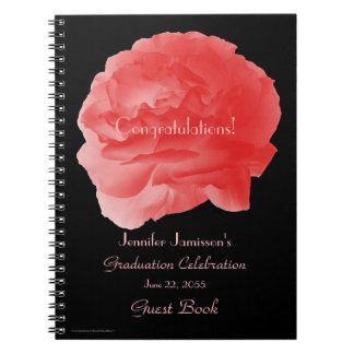 Cuaderno Libro de visitas de la fiesta de graduación, color