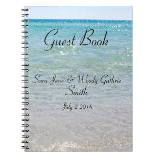 Cuaderno Libro de visitas del azul de océano
