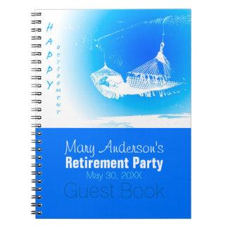 Cuaderno Libro de visitas feliz del fiesta de retiro de la