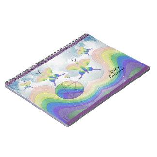 Cuaderno Libro del pentáculo de la mariposa de la prisma