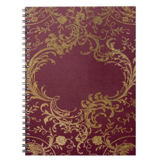 Cuaderno Libro encuadernado de cuero del vintage