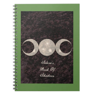 Cuaderno Libro remilgado del diseño de la luna del BOS