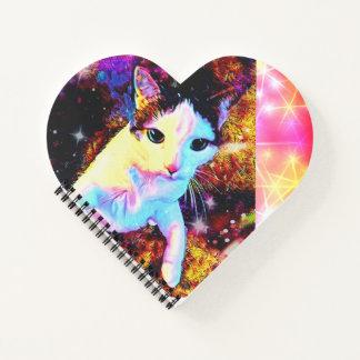 Cuaderno lindo colorido del disco del gatito de la