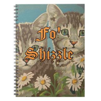 Cuaderno lindo de los gatos y de las margaritas