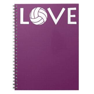 Cuaderno lindo del amor del voleibol