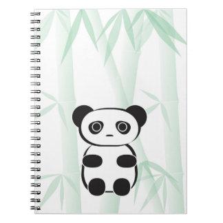 Cuaderno lindo del oso de panda