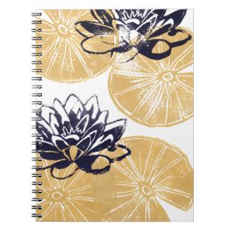 Cuaderno Lirios de agua de oro