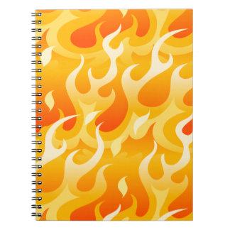 Cuaderno Llamas calientes