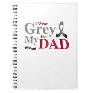Cuaderno Llevo el gris para mi regalo de la conciencia del