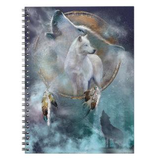 Cuaderno Lobo del grito con Dreamcatcher
