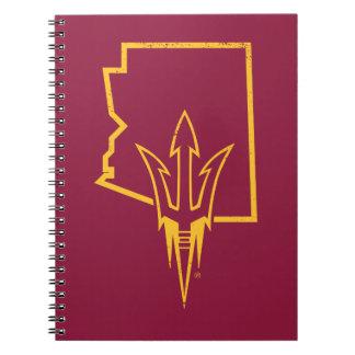 Cuaderno Logotipo clásico del estado de ASU el |