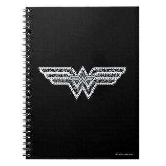 Cuaderno Logotipo de Paisley de la Mujer Maravilla