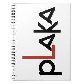 Cuaderno Logotipo de Plaka