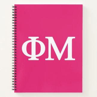Cuaderno Logotipo grande de MU Lil de la phi