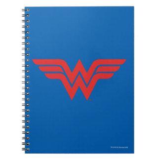 Cuaderno Logotipo rojo de la Mujer Maravilla