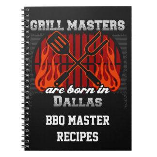 Cuaderno Los amos de la parrilla nacen en Dallas Tejas