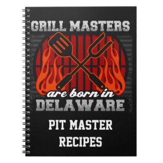 Cuaderno Los amos de la parrilla nacen en Delaware