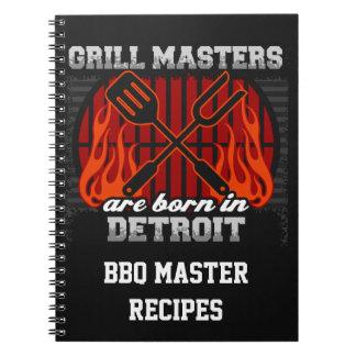 Cuaderno Los amos de la parrilla nacen en Detroit Michigan