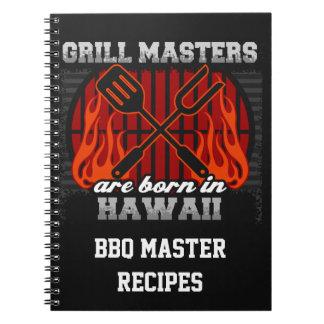 Cuaderno Los amos de la parrilla nacen en Hawaii