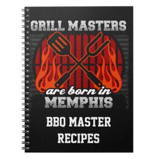 Cuaderno Los amos de la parrilla nacen en Memphis Tennessee