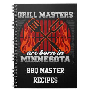 Cuaderno Los amos de la parrilla nacen en Minnesota