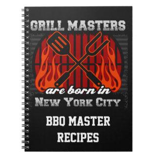 Cuaderno Los amos de la parrilla nacen en New York City