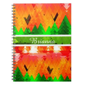 Cuaderno Los colores de los árboles de pino del otoño