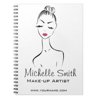 Cuaderno Los labios rosados preciosos componen el marcado