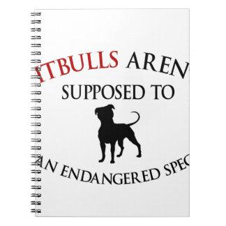 Cuaderno Los pitbulls diseñan lindo