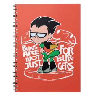 Cuaderno ¡Los titanes adolescentes van! bollos de Scooty